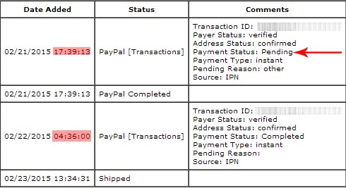 PayPal Payment Status Completed Vs Pending Same Store Order - What is paypal invoice buy online pickup in store same day
