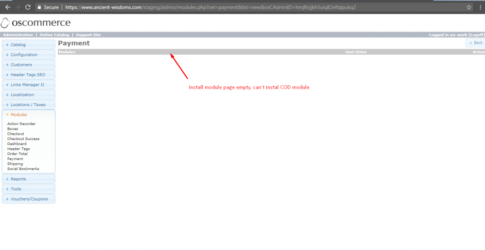 Can't install COD module - Other - osCommerce Support Forum
