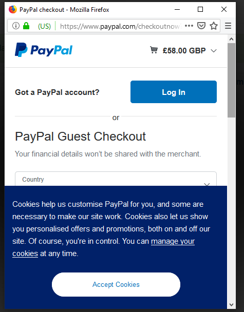 PayPal App v5 018 Log In with PayPal is now dead - PayPal